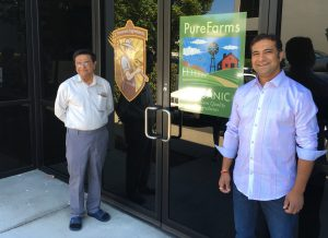 Vipin and Ashish Lakhani at Reliable Products and PureFarms Organics processing facilities in Woodinville, WA